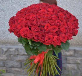 101 Роза на ленте