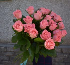 19 Роз ( 70 см ) на ленте
