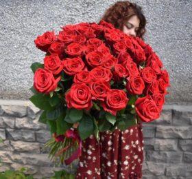 35 Роз на ленте