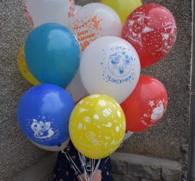Фонтан из 15 шариков