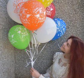 Фонтан из 11 шаров