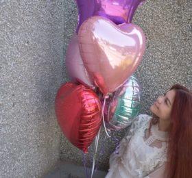 5 фольгированных шаров
