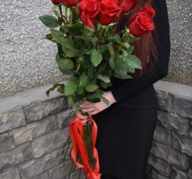 15 роз (100см)