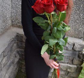 5 роз (100см)