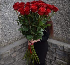 25 роз (100см)