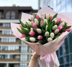 35 Тюльпанов в оформлении
